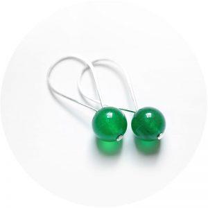 Qtz dripdrop oorringen groen