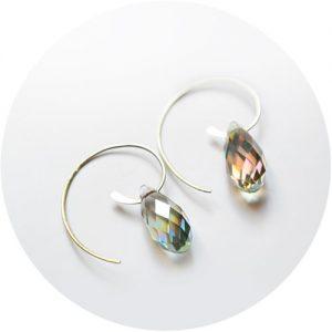 Qtz chandelier oorringen